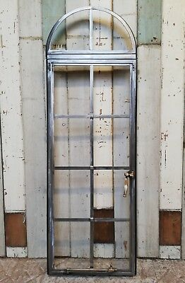 A FANTASTIC INDUSTRIAL RECLAIMED CRITTALL WINDOW WITH ARCH Ref M1230