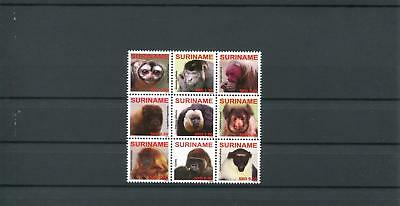 Suriname Mnh 2009 Monkeys 2073