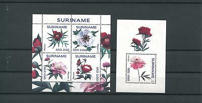 Suriname Mnh 2011 Flowers 2103