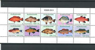 Suriname Mnh 2013 Fish 2111
