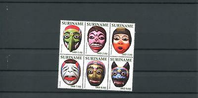 Suriname Mnh 2011 Masks 2094