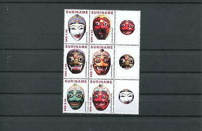 Suriname Mnh 2013 Masks 2102