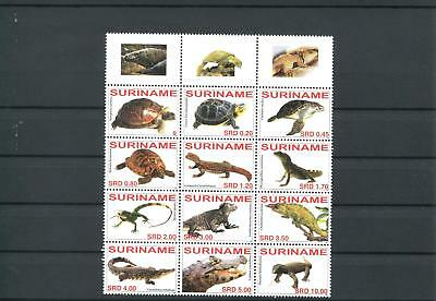 Suriname Mnh 2007 Turtles Reptiles 2052