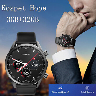 Kospet Hope 4G Smartwatch Phone 1.39 inch Android 7.1 GPS 3GB+32GB 8.0MP Camera