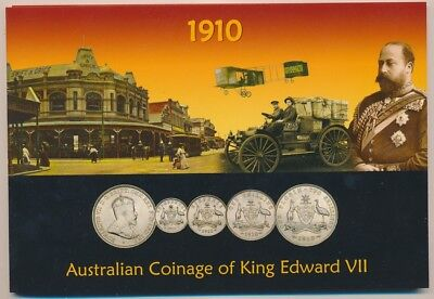 Australia: 1910 KEVII Silver Coinage Collection (4)  in Scarce Sherwood Folder