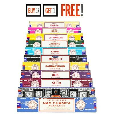 Original Satya Genuine Nag Champa Incense Sticks 15g- Buy 3 Get 1 Free