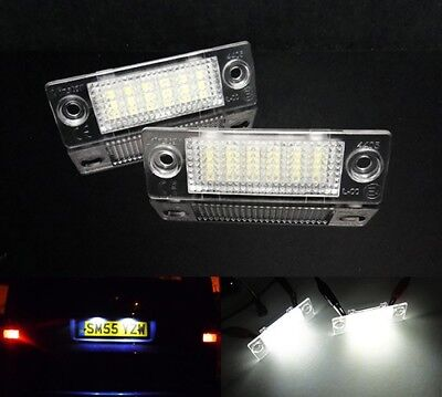 2x LED Licence Number Plate Light White Transporter T5 T6 Touran Multivan Caddy