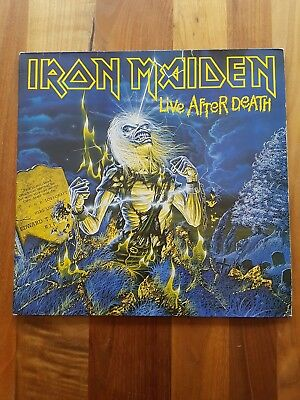 "IRON MAIDEN – Live after Death 2x12""Vinyl inkl.OIS+Booklet GER 1985"
