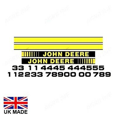 Decal Set Fits John Deere 1750 1850 1950 2250 2450 2650 2850 3050 3350 3650