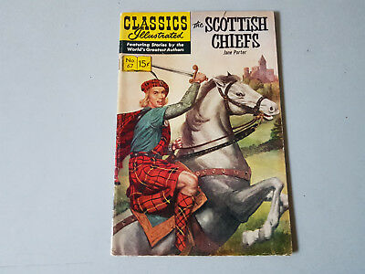 CLASSICS ILLUSTRATED No. 67 The Scottish Chiefs - 15c - HRN 167 - very nice!