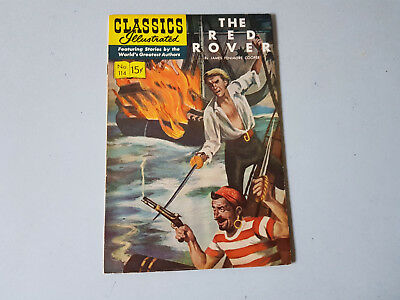 CLASSICS ILLUSTRATED No. 114 The Red Rover - 15c - HRN 166 -