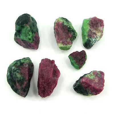 200.00 Ct Ruby Zoisite Loose Gemstone Rough Specimen Lot of 7 Pcs New - ZR1281