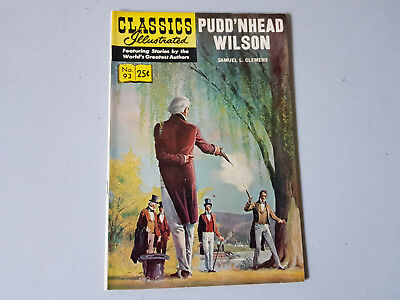 CLASSICS ILLUSTRATED No. 93 Pudd'nhead Wilson - 25c - HRN 166 - v. nice!
