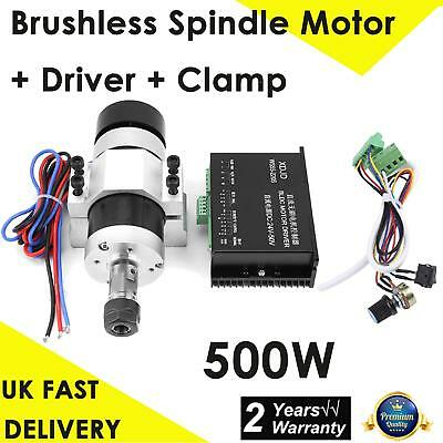 ER16 DC48V CNC 500W High Speed Air Cooling Brushless Spindle Motor+Driver+Clamp