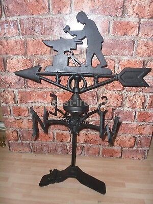 Cast Iron Blacksmith weather-vane ridge mount
