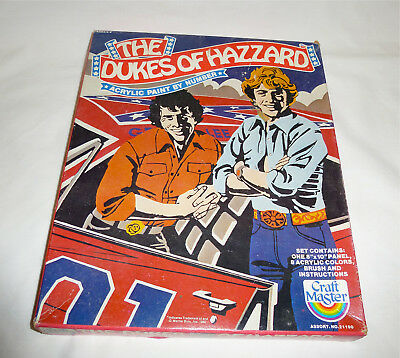 Vintage Dukes of Hazzard 1980 Acrylic Paint by Number set Unopened