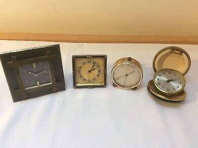 Job Lot (4) Vintage Clocks (Various Makes) - All Need Some Maintenance/Service