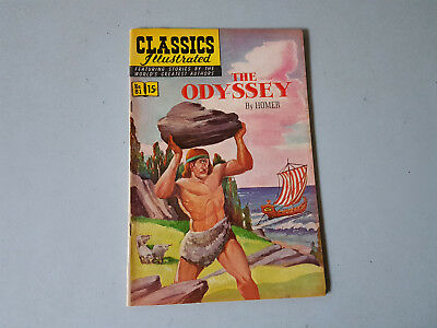 CLASSICS ILLUSTRATED No. 81 The Odyssey - 15c - HRN 167