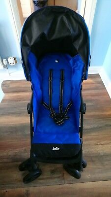 Bright Blue Joie Nitro Buggy/pushchair Stroller With  Matching Footmuff