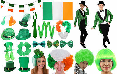 St Patricks Day Costume Accessories Ireland Six Nations Rugby Fancy Dress Lot