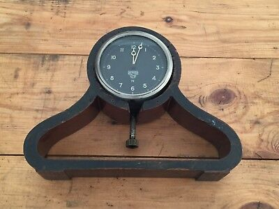 Vintage Smiths Car Clock ? in a Vintage Wood Mantel Clock Frame For Repair