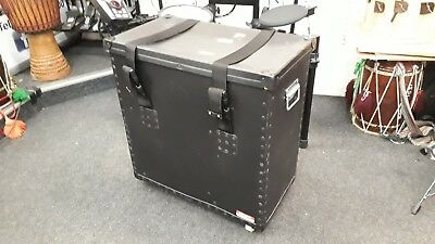 Percussion Plus Drum Flight Case 60x60x32cm, With Several Compartments & Wheels