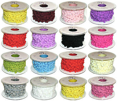 Jumbo 5Mm Pom Pom, Braid Fringe Trim, X2 Mtrs, Choose Colour, Art No: Pom Pom