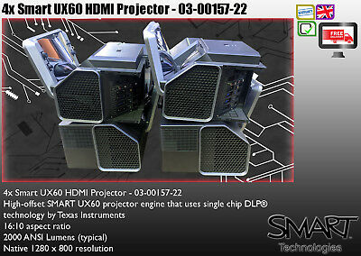 4x SMART UX60 LCD HDMI PROJECTOR BULK WHOLESALE FREE DELIVERY EA2112
