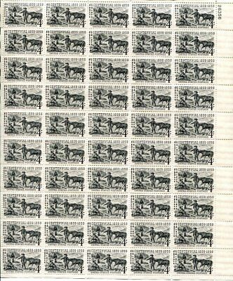 US Scott #1130 Silver Centennial Sheet MNH. Free Shipping.