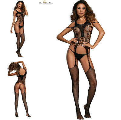 Hot Reizwäsche Fishnet Body Stocking Catsuit Netz Body Unterwäsche |H| 790042-2