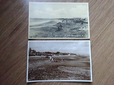 2 Old Postcard-The Beach Nairn-People