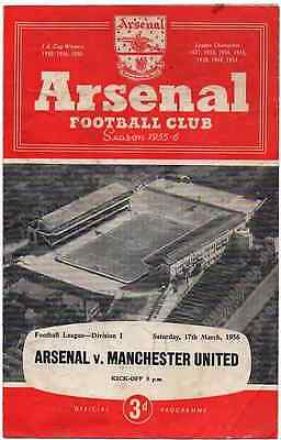 1956-Arsenal V Man-Manchester United-Utd-Busby Babes-League Champions