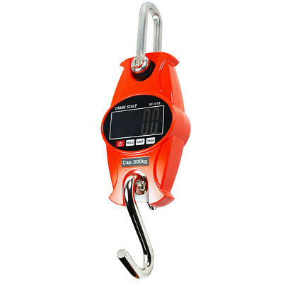 ITS- 300Kg/600LBS Mini Crane Scale LCD Digital Hanging  Weight Industrial Hook G