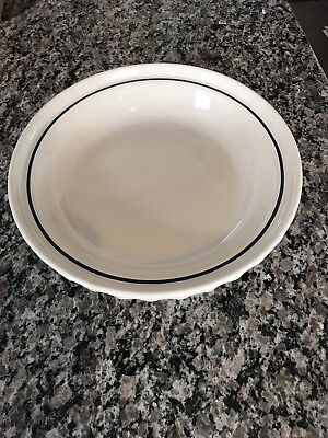 Longaberger Grandma Bonnie Pie Plate - Woven Traditions Blue - Made in USA - EUC