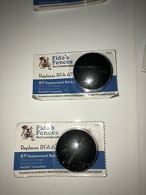 Lot Of 5 Pet Safe Compatible RFA-67 Battery   Replacement Fido's Fences FF-67