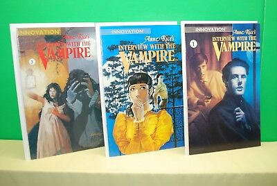 Anne Rice's Interview With The Vampire Comics Issue #1, 2 & 3 (Innovation 1991)