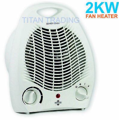 2kw Portable Home Electric Upright Adjustable Fan Heater Hot Cold Small 2000 W