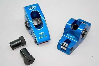0335016 PRW Aluminum Roller Rocker SB Chevy 350 1.5/1.6 Split Ratio 7/16 Stud