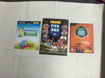 3 albums PANINI FOOTBALL vides, empty