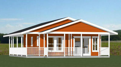 22x28 House -- 1 Bedroom 1 Bath -- 594 sq ft -- PDF Floor Plan -- Model 3