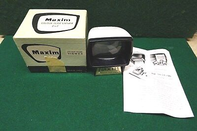 """Maxim Colour Slide Viewer 2"""" X 2"""" - Vintage Viewer In Box With Instructions."""