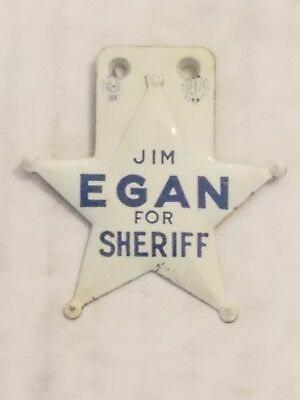 Very Nice Vintage Jim Egan For Sheriff Campaign Pin Lot Star Mid Century Cool