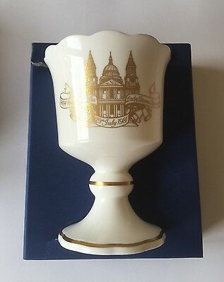 Charles And Diana Wedding Toasting Goblet Royal Worcester