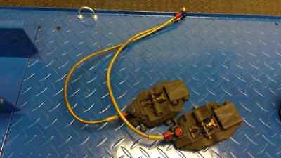 Honda RVF400 front brake calipers left right braided hoses pads NC35 VFR NC30