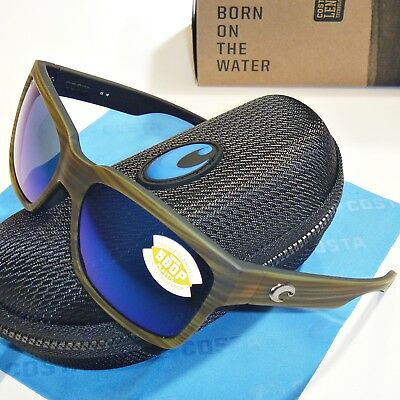 7adf42daf8 Costa Del Mar Playa Polarized Sunglasses-Matte Verde Teak Blue Mirror 580P  Lens
