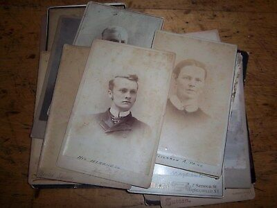 Lot of Cabinet Card Photos (23pcs.) Hornellsvlle, N.Y., Surname - Page, Long