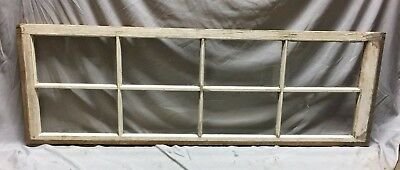 Antique 8 Lite Side Transom Window Sash Shabby Vintage Old Chic 19X58 104-19C