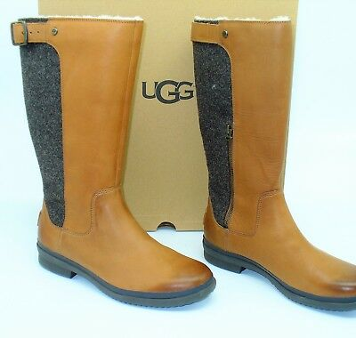 616a7b64197 NIB UGG AUSTRALIA (#3) Janina Chestnut Leather Womens Knee High Boots Us Sz  9