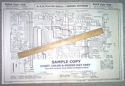 1958 Lincoln EIGHT Series Models AEA Wiring Diagram 1958 lincoln eight series capri & premiere models aea tune up chart