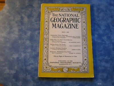 VINTAGE NATIONAL GEOGRAPHIC July 1949 APPALACHIAN VALLEY Sea Shells LAPLAND DEER